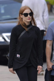 Jessica Chastain wears Black at Lincoln Center in New York