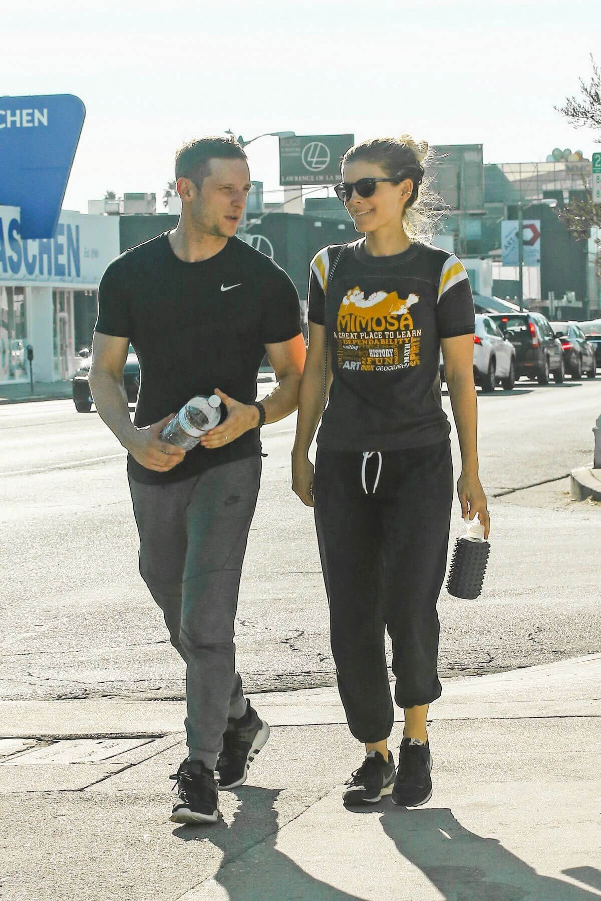 Kate Mara and Jamie Bell Stills Leaves a Gym in Los Angeles