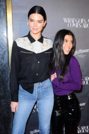 Kendall Jenner and Kourtney Kardashian Stills at What Goes Around Comes Around One Year Anniversary in Los Angeles