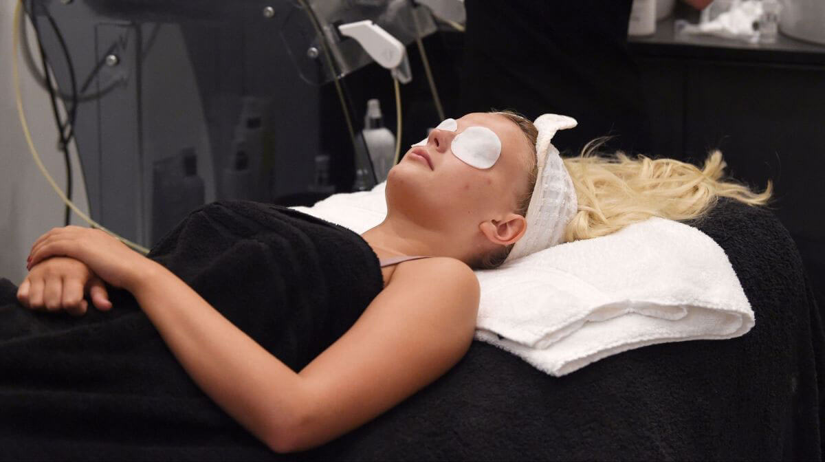 Lucy Fallon Stills at Crystal Clear Skincare in Liverpool Photos