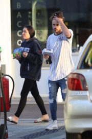 Marnie Simpson and Casey Johnson Stills at a Gas Station in London
