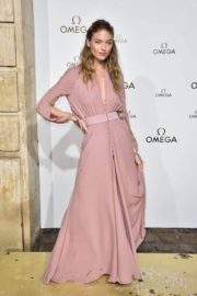 Martha Hunt Stills at Omega Her Time Exhibition Launch Party in Paris