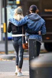 Mollie King with Her Friend Out and About in London