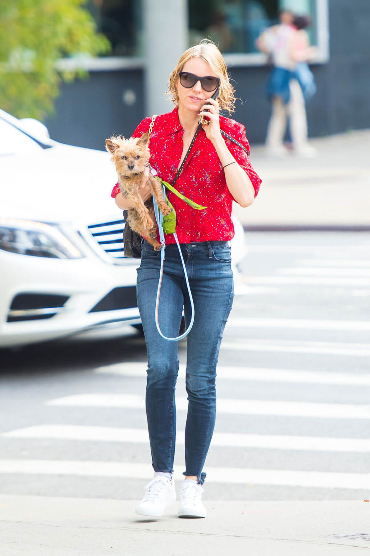 Naomi Watts Stills Out with Her Dog in New York