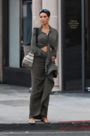 Nicole Murphy Stills Leaves a Hotel in Beverly Hills