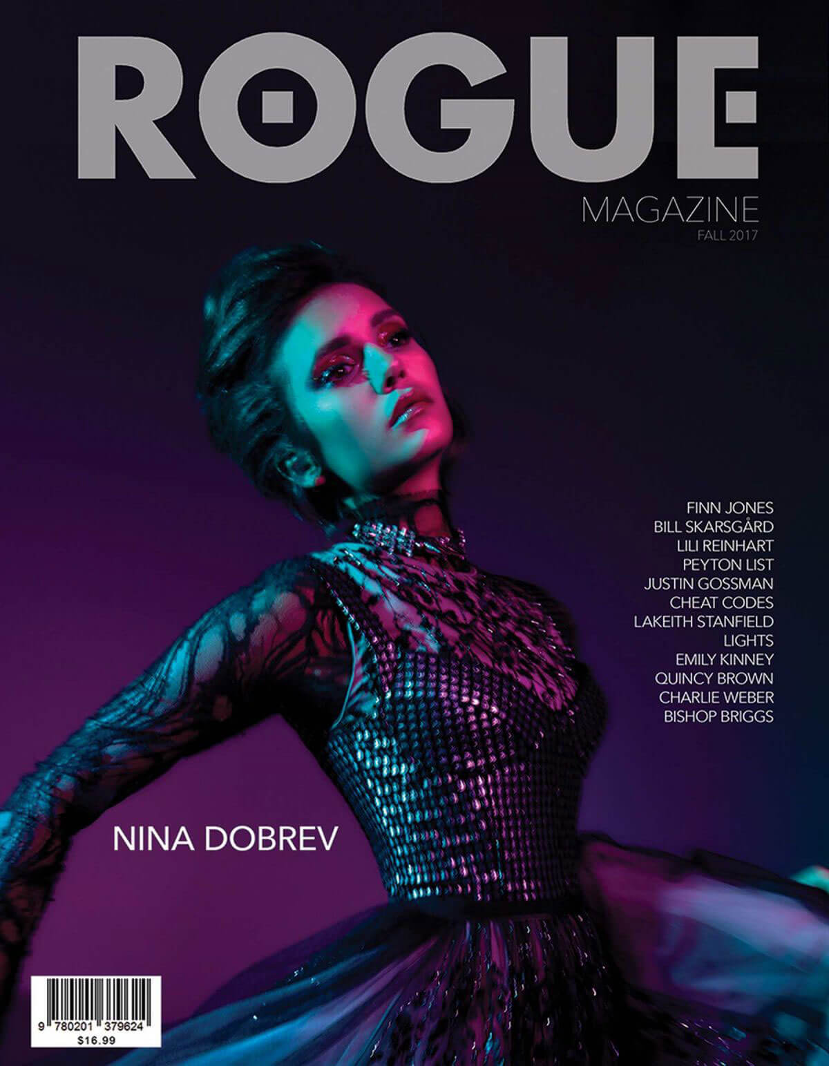 Nina Dobrev Poses for Rogue Magazine, Fall 2017 Photos