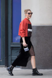 Olivia Palermo wears Sweatshirts Out and About in New York