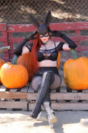 Phoebe Price Stills at Pumpkin Patch on the Set of a Photoshoot