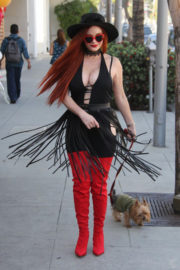 Phoebe Price Stills Out with Her Dog in Beverly Hills