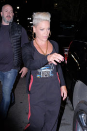 Pink wears Tank Top & Lower Night Out in New York