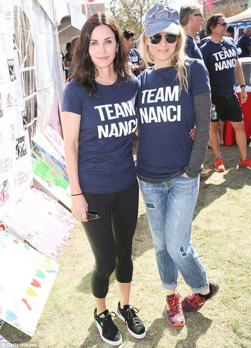 Renee Zellweger and Courteney Cox Stills at Annual LA County Walk to Defeat ALS