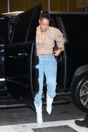 Rihanna Stills Night Out in New York Images