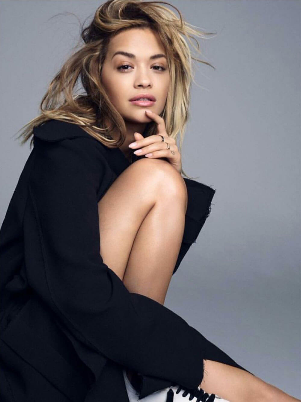 Rita Ora Poses for Your Song Promos 2017