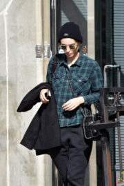 Rooney Mara wears Checked Shirt & Lower Out and About in West Hollywood