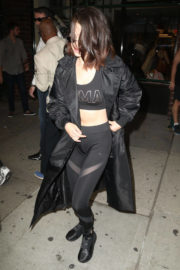 Selena Gomez wears Tights Night Out in New York