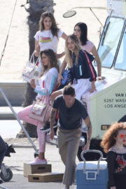 Sistine, Scarlet Stallone, Amelia Hamlin and Delilah Hamlin on the Set of a Photoshoot for a Japanese Luxury Fashion House in Santa Monica