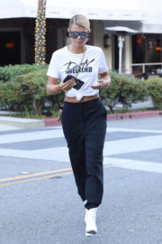 Sofia Richie shows off Belly Button Out and About in Beverly Hills