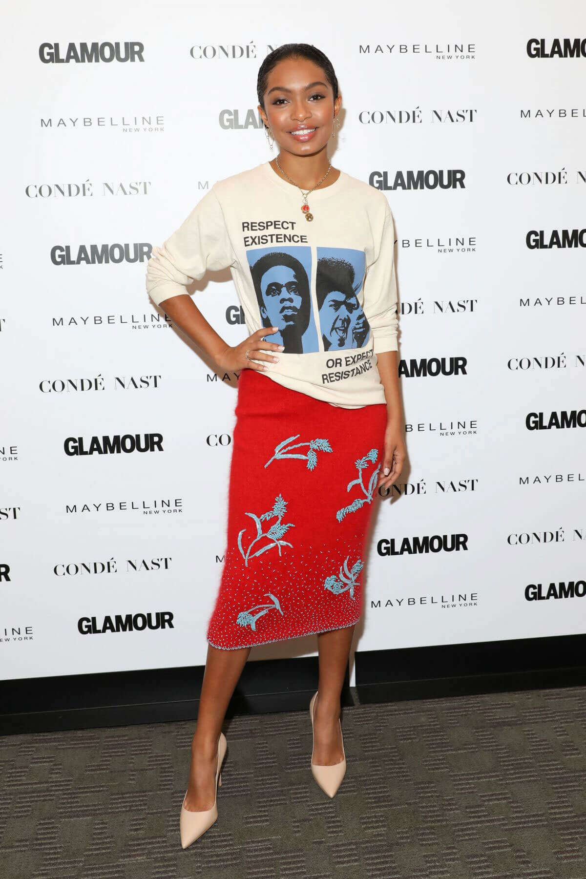 Yara Shahidi Stills at Glamour's The Girl Project Celebrating International Day of the Girl in New York
