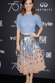 Ahna O'Reilly Stills at HFPA & Instyle Celebrate 75th Anniversary of the Golden Globes in Los Angeles