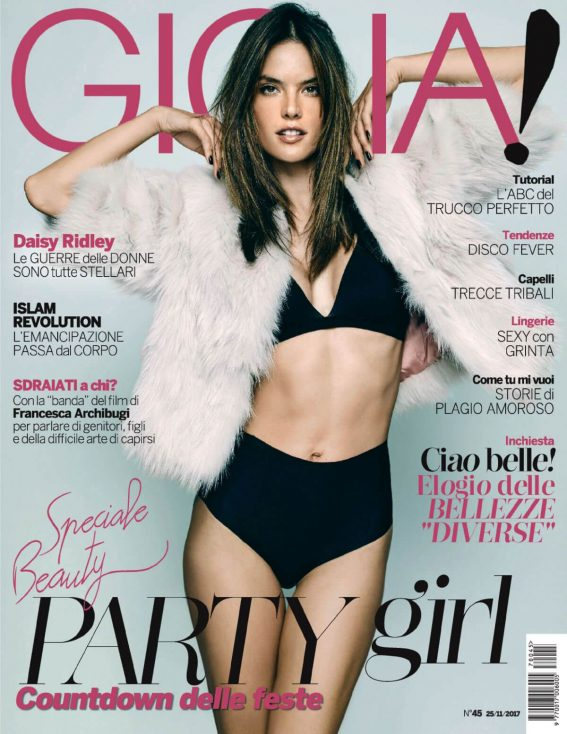 Alessandra Ambrosio Hot Poses for Gioia! Magazine Photoshoot, November 2017