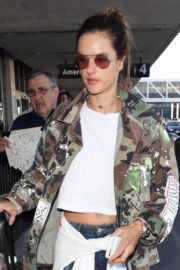 Alessandra Ambrosio shows off Belly Bottom Out in Los Angeles