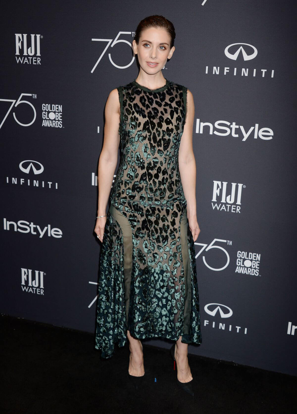 Alison Brie Stills at HFPA & Instyle Celebrate 75th Anniversary of the Golden Globes in Los Angeles