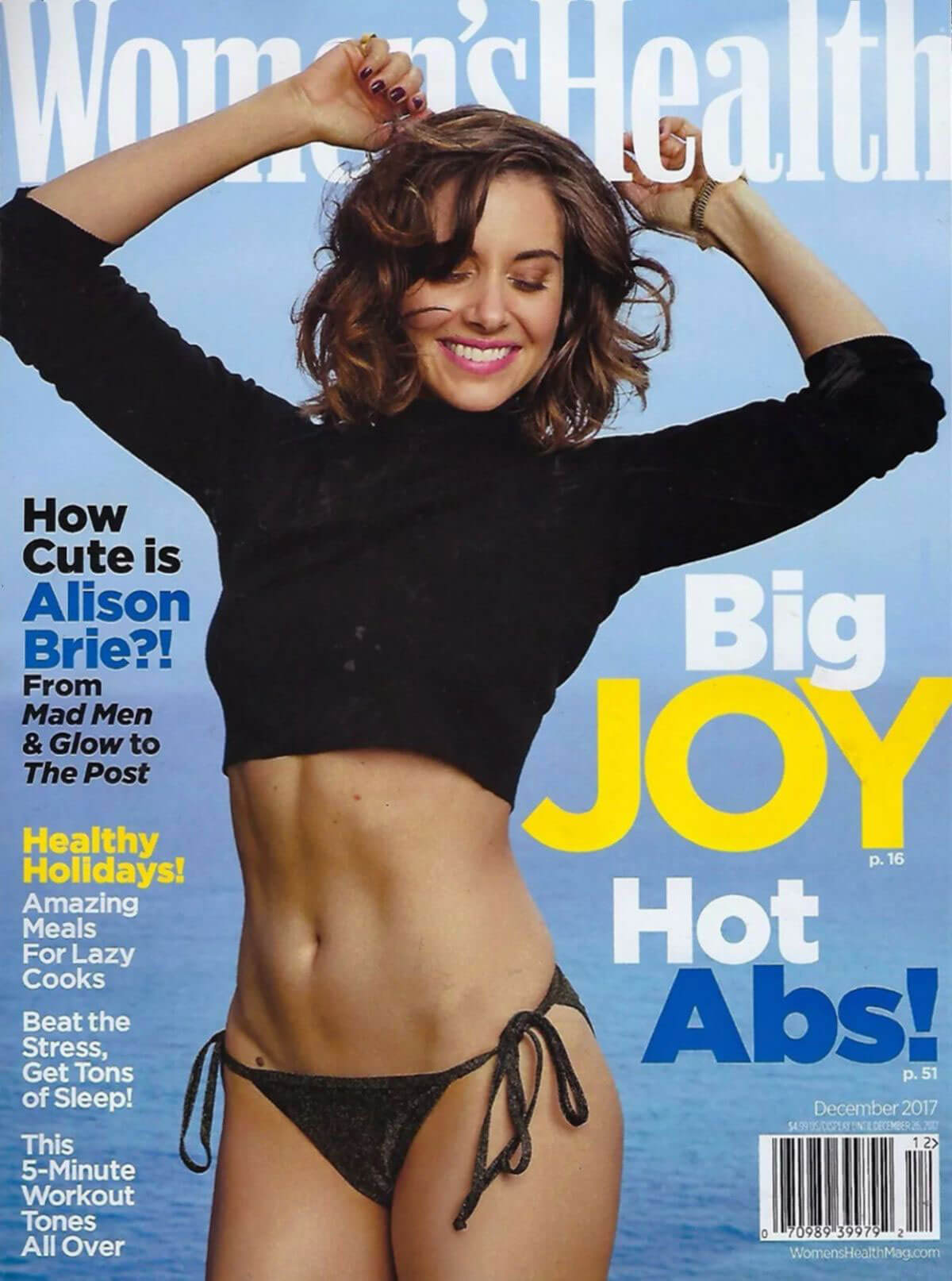 Alison Brie Stills on the Cover of Women's Health Magazine, December 2017