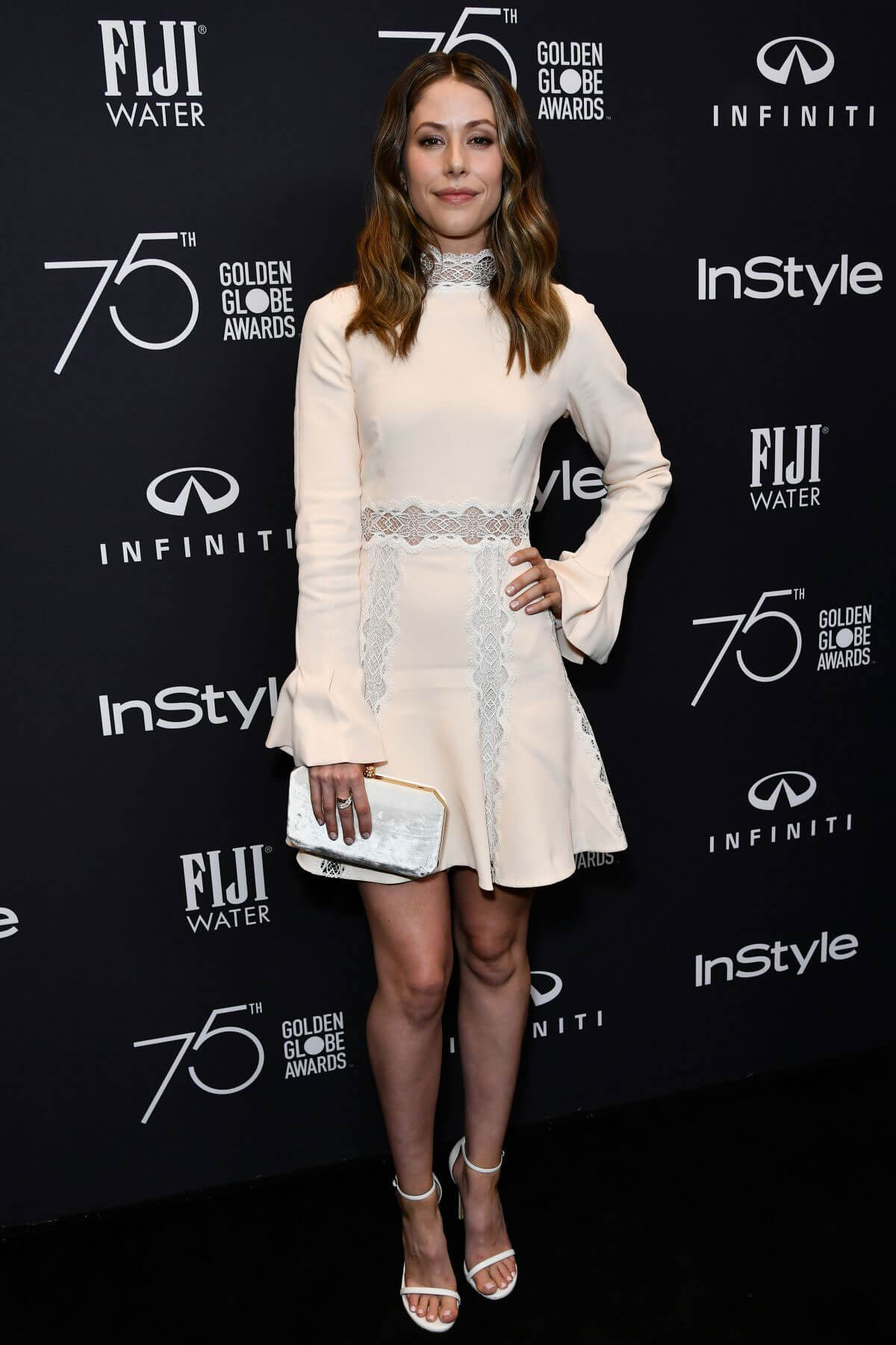 Amanda Crew Stills at HFPA & Instyle Celebrate 75th Anniversary of the Golden Globes in Los Angeles
