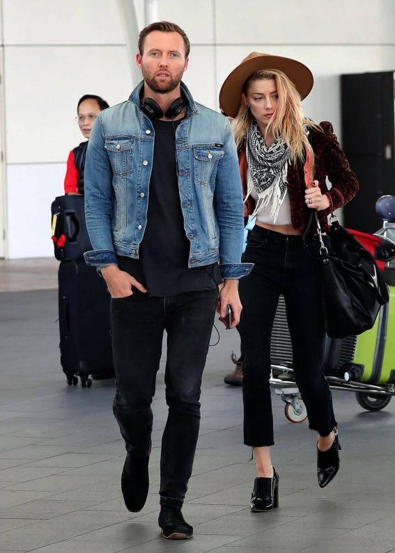 Amber Heard and Elon Musk Stills Out and About in Sydney