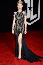 Amber Heard Stills at Justice League Premiere in Los Angeles