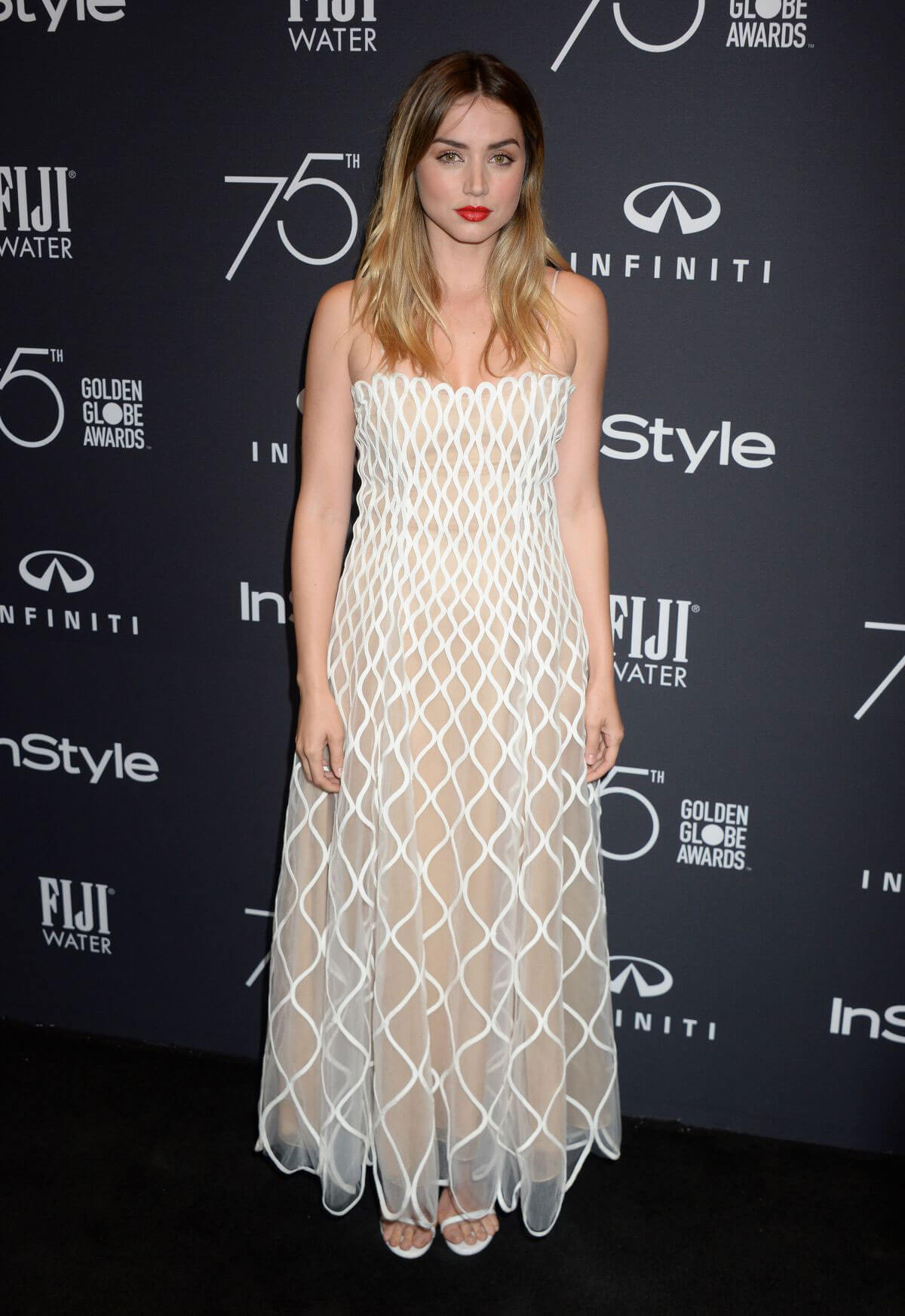 Ana de Armas Stills at HFPA & Instyle Celebrate 75th Anniversary of the Golden Globes in Los Angeles