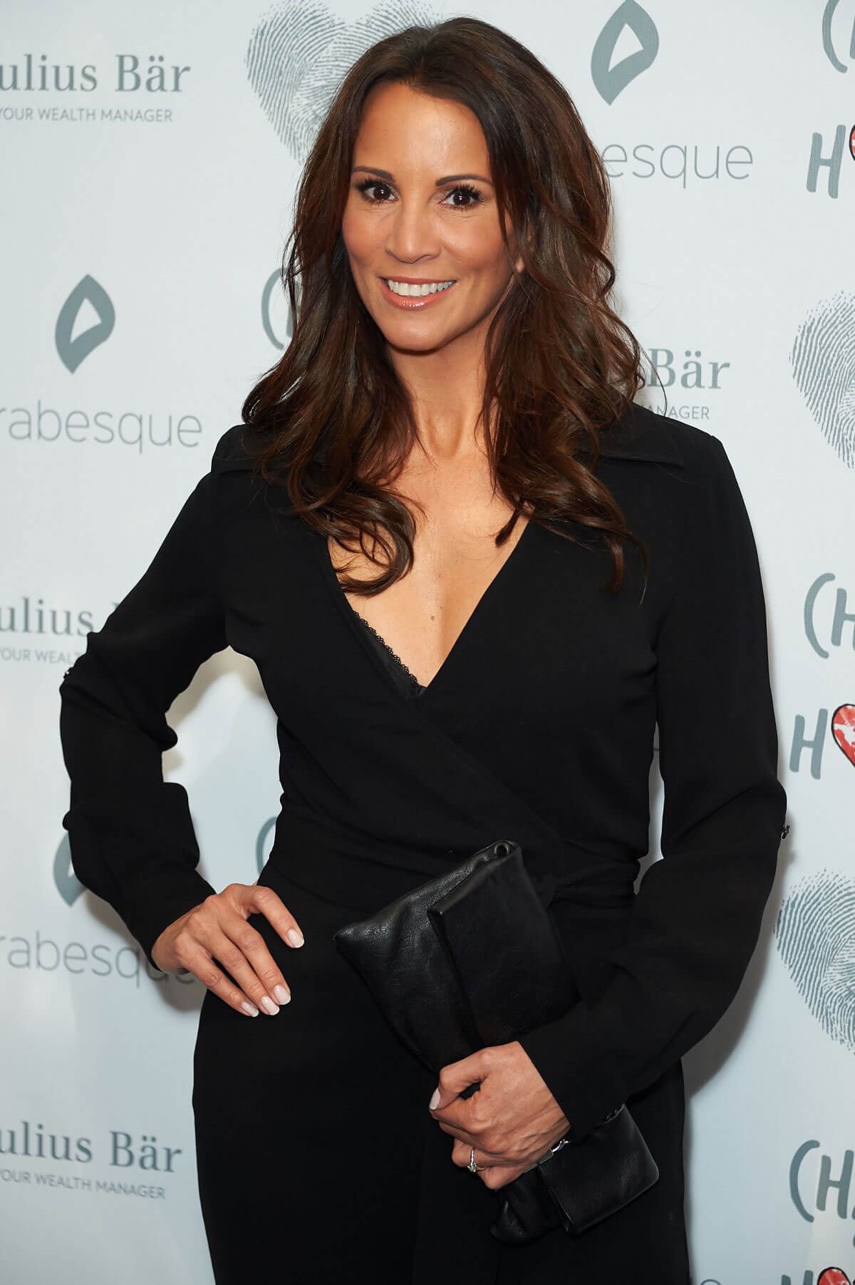 Andrea McLean in Black Outfit at Chain of Hope Gala in London