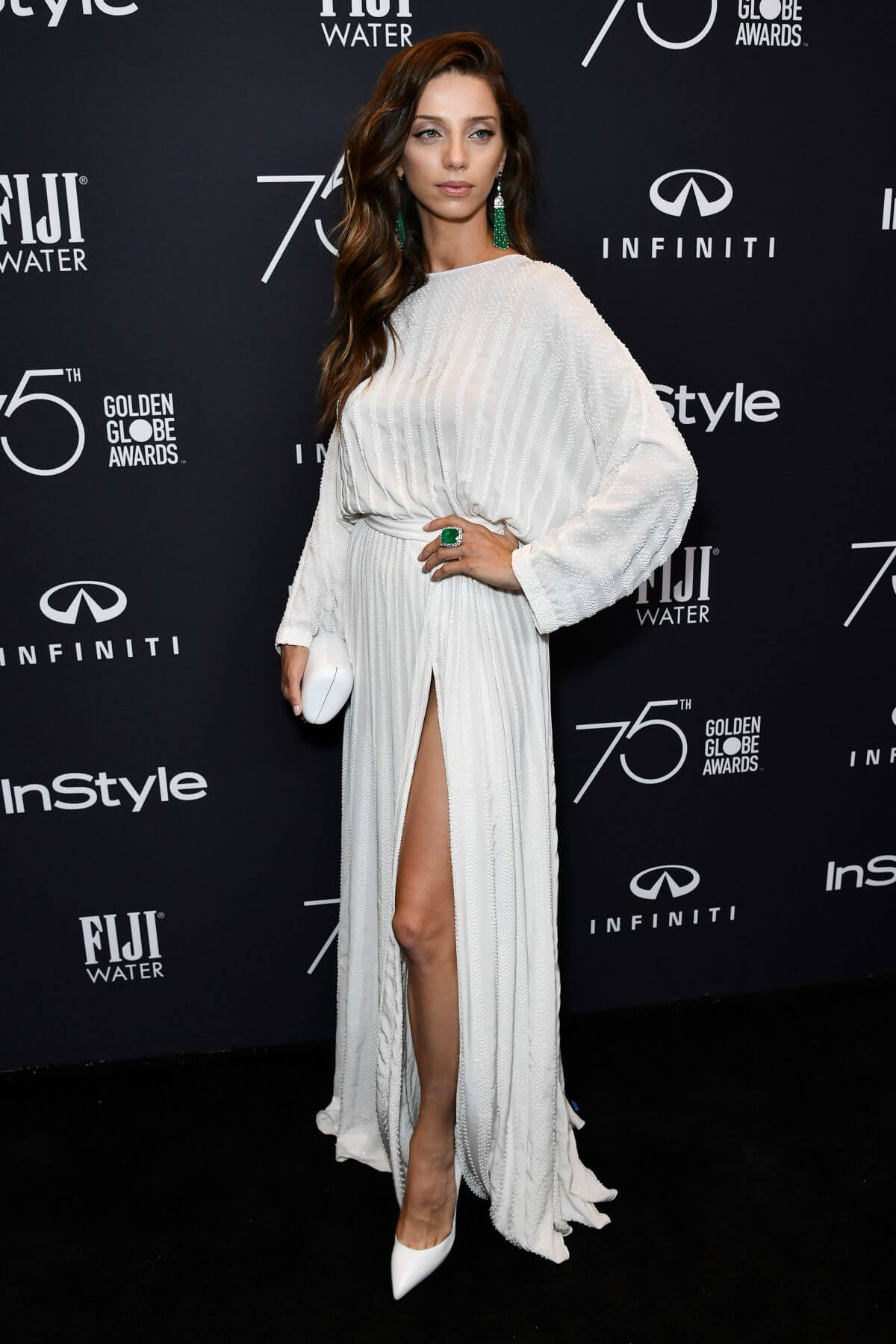 Angela Sarafyan Stills at HFPA & Instyle Celebrate 75th Anniversary of the Golden Globes in Los Angeles