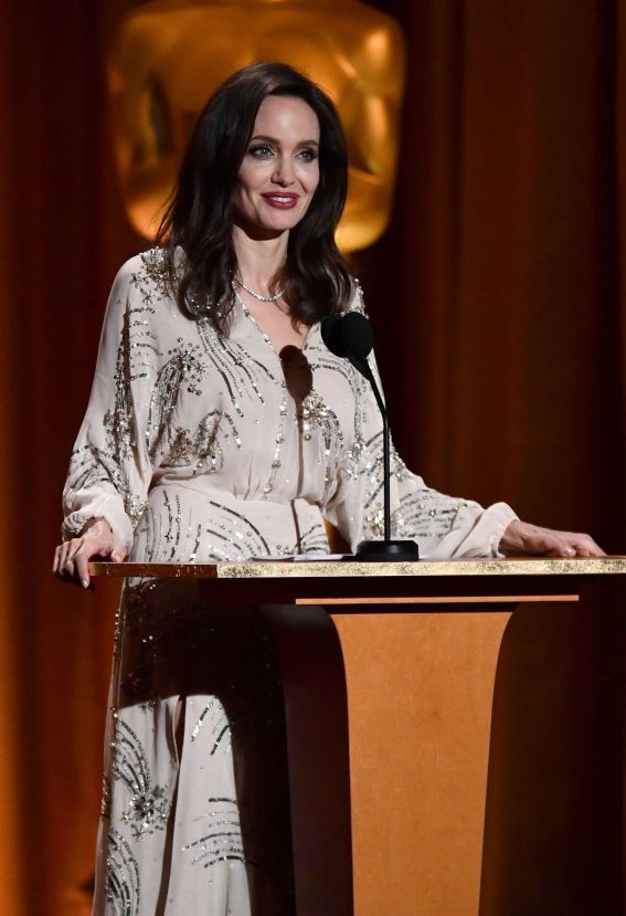 Angelina Jolie Stills at AMPAS 9th Annual Governors Awards in Hollywood