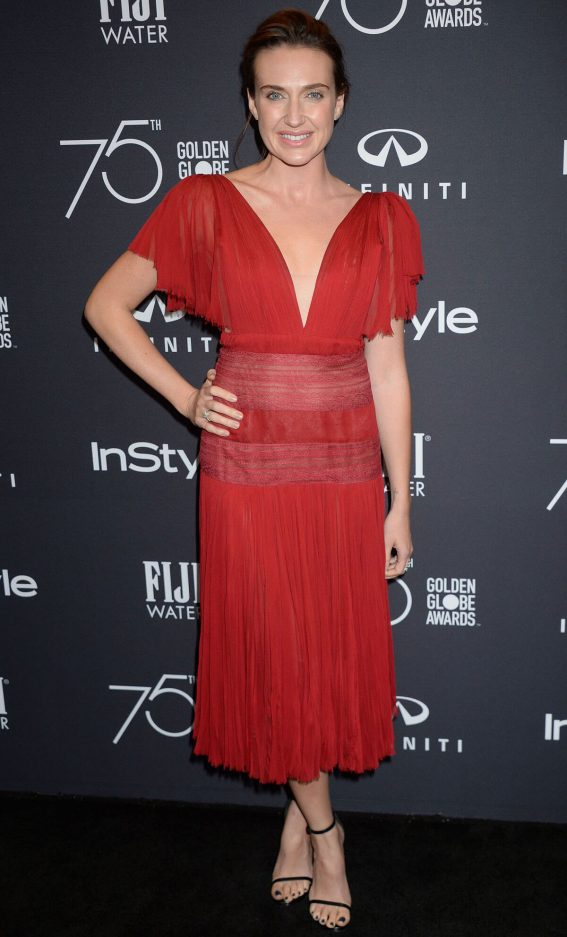 Anna Schafer Stills at HFPA & Instyle Celebrate 75th Anniversary of the Golden Globes in Los Angeles