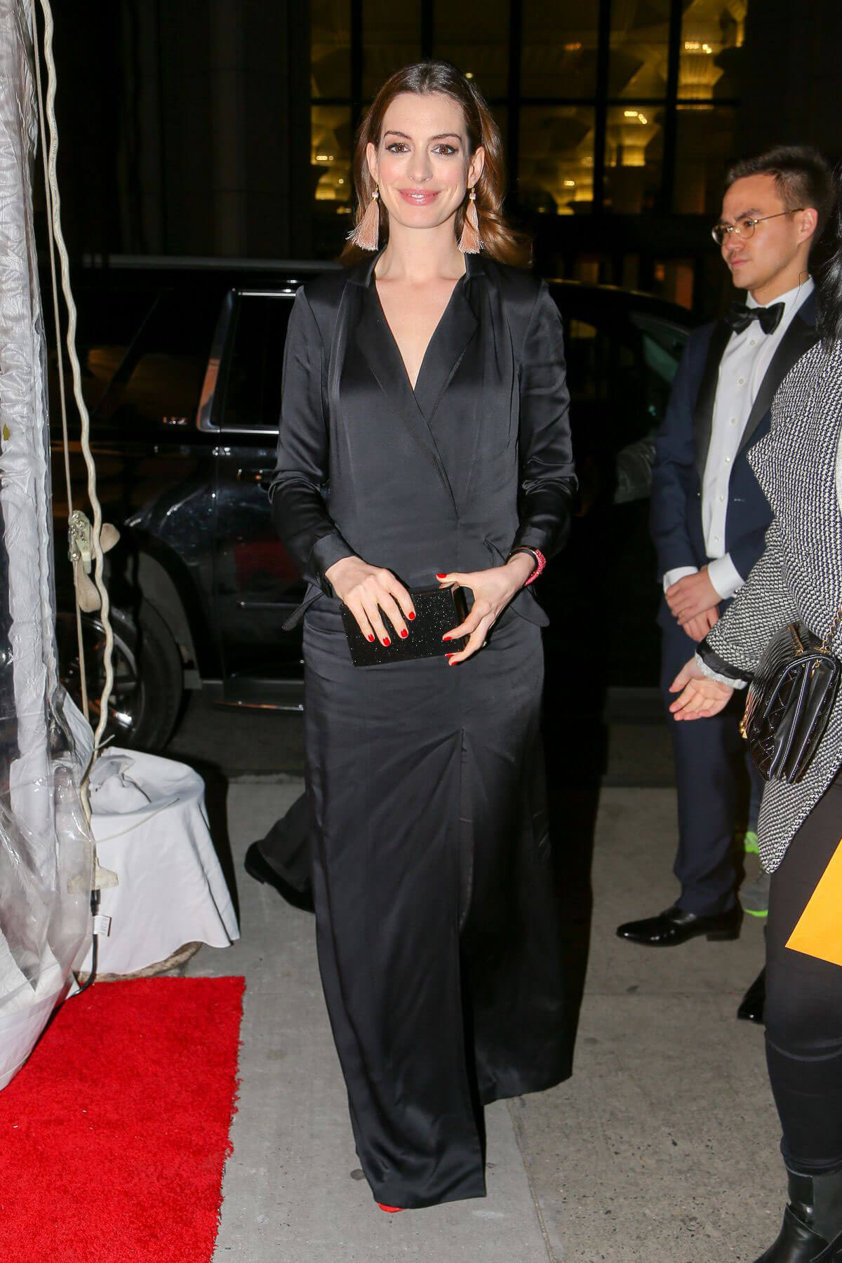 Anne Hathaway and Adam Shulman Stills at Cipriani in New York