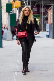 Ashley Benson wears Black Outfit Out and About in New York
