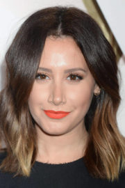 Ashley Tisdale wears Black One Piece Dress at #revolveawards in Hollywood