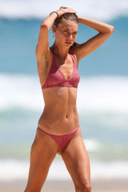 Avril Alexander wears Purple Bikini at Bondi Beach Photos