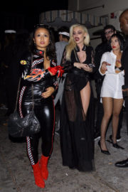 Bebe Rexha Stills at Halloween Party at Delilah in West Hollywood