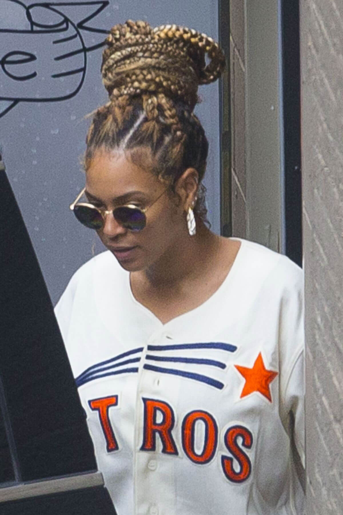 Beyonce Stills Leaves Dooky Chase Restaurant in New Orleans