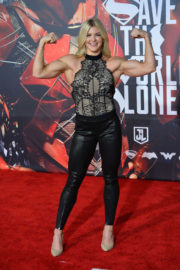 Brooke Ence Stills at Justice League Premiere in Los Angeles