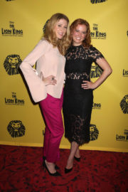 Caissie Levy and Patti Murin Stills at The Lion King 20th Anniversary Performance on Broadway in New York