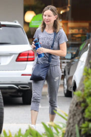 Calista Flockhart Stills Leaves Soulcycle in Brentwood