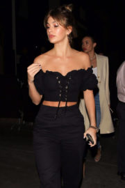 Camila Morrone Stills at Kendall's Jenner Birthday Party at Petite Taqueria in West Hollywood