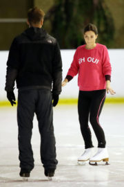 Candice Brown Stills at Dancing on Ice Rehearsal in London