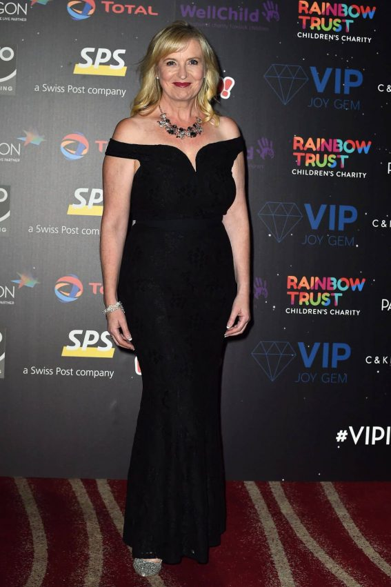 Carol Kirkwood wears Black Dress at An Evening with the Stars in London