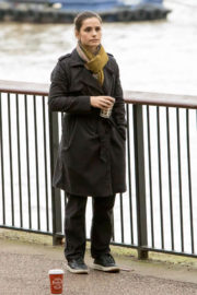 Charlotte Riley Stills on the Set of Press in London Images