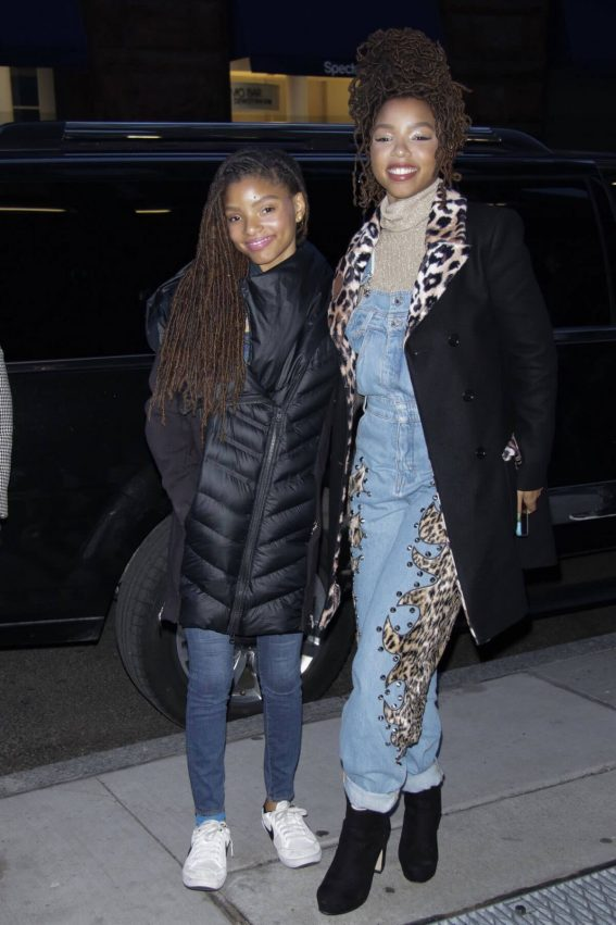 Chloe and Halle Bailey Stills Arrives at AOL Build in New York