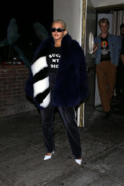 Christina Aguilera wears Rude T-Shirt Leaves Delilah in Los Angeles